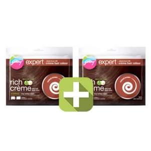 Акция 2 по цене 1! Крем-краска для волос Натуральный коричневый Годредж (Godrej Expert Rich Creme), 40г