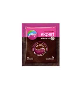 Краска для волос Натуральный коричневый Годредж (Godrej Expert Advanced), 20г
