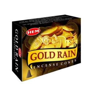 Ароматические конусы Золотой дождь ХЕМ (Incense Gold Rain HEM), 10шт