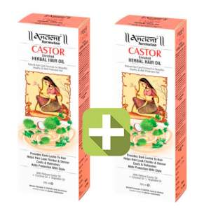 Акция 2 по цене 1! Касторовое масло для волос Древние Формулы (Ancient Formulaè Castor Enriched Herbal Hair Oil), 200мл