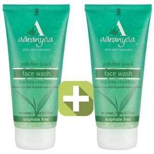 Акция 2 по цене 1! Антибактериальный гель для умывания Чайное дерево Ааранья (Aaranyaa Anti Bacterial Tea Tree Face Wash), 110мл