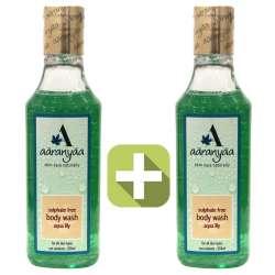 Акция 2 по цене 1! Бессульфатный гель для душа Водяная лилия Ааранья (Aaranyaa Sulphate free Body wash gel water lily), 250мл