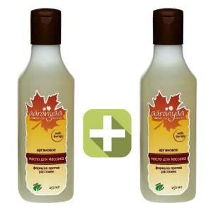 Акция 2 по цене 1! Массажное масло для тела от растяжек с арганой Ааранья (Aaranyaa Argan Body Massage Oil with anti stretch mark formula), 250мл