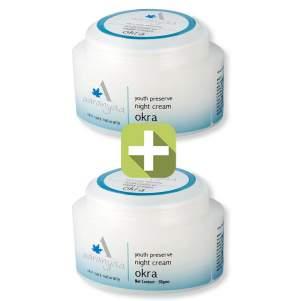 Акция 2 по цене 1! Крем ночной от морщин Окра Ааранья (Aaranya EE Anti-Wrinkle Cream with Okra), 50г