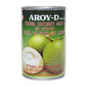 Мякоть молодого кокоса в сиропе AROY-D (Pulp of young coconut in syrup AROY-D), 425г