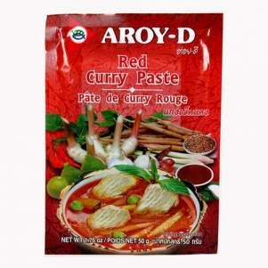 Паста Карри красная AROY-D (Curry paste red AROY-D), 50г