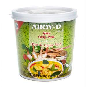 Паста Карри зелёная AROY-D (Curry paste green AROY-D), 400г