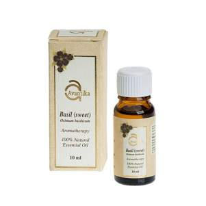 Натуральное эфирное масло сладкого Базилика Авантика (Avantika Natural Essential Basil Sweet Oil), 10мл