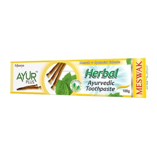 Аюрведическая зубная паста с мисваком и мятой Аюр Плюс (Ayur Plus Herbal Meswak), 100г