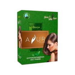 Натуральная индийская Хна с травами Аюр Плюс (Ayur Plus Shiny&Silky Hair), 100г