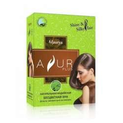 Натуральная индийская Бесцветная Хна Аюр Плюс (Ayur Plus Shiny&Silky Hair), 100г
