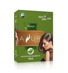 Натуральная индийская Хна Аюр Плюс (Ayur Plus Shiny&Silky Hair), 100г
