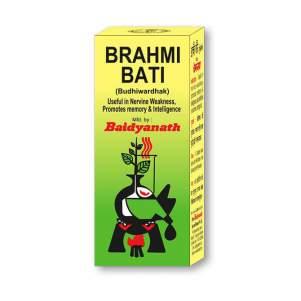 Брахми Вати тоник для мозга Байданат (Brahmi Bati Baidyanath), 80шт