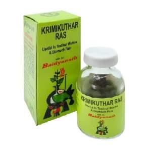 Антигельминтное средство Кримикутхар Рас Байданат (Krimikuthar Ras Baidyanath), 80шт