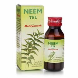 Масло от кожных заболеваний Ним Тэл Байданат (Neem Tel Oil Baidyanath), 50мл