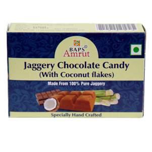 Джаггери конфеты с шоколадом и кокосом Бапс Амрут (Jaggery Chocolate Candy with coconut flakes Baps Amrut), 110г