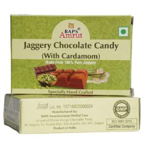 Джаггери конфеты с шоколадом и кардамоном Бапс Амрут (Jaggery Chocolate with Cardamom Candy flakes Baps Amrut), 110г