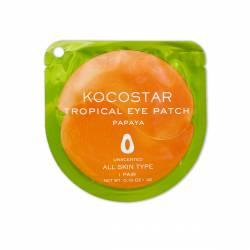 Гидрогелевые патчи для глаз тропические фрукты папайя Kocostar (Tropical Eye Patch Papaya), 2шт