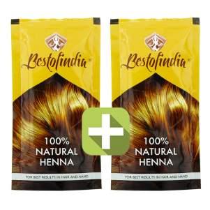 Акция 2 по цене 1! Хна для волос индийская натуральная Бестофиндия (100% Natural Henna Bestofindia), 100г