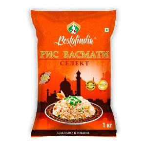 Рис Басмати Селект Бестофиндия (Bestofindia Basmati Select Rice), 1кг