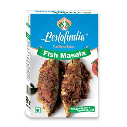 Смесь специй для рыбы Фиш Масала Бестофиндия (Bestofindia Fish Masala), 100г