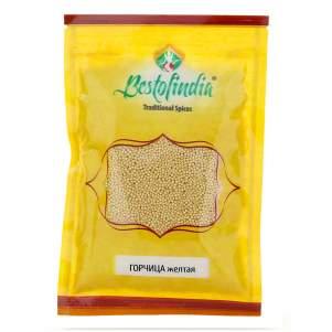 Горчица жёлтая Бестофиндия (Bestofindia Mustard Seeds), 100г