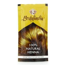 Хна для волос индийская натуральная Бестофиндия (100% Natural Henna Bestofindia), 100г