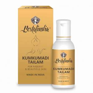 Кумкумади Тайлам - сияние и красота кожи, массажное масло для лица и тела Бестофиндия (Bestofindia Kumkumadi Tailam),  50мл
