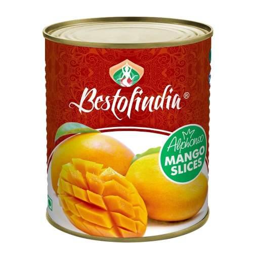 Манго Альфонсо дольки Бестофиндия (Mango Alphonso Slices Bestofindia), 850г