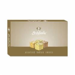 Воздушные индийские сладости Соан Папди Ассорти 4в1 Бестофиндия (Bestofindia Soan Papdi Assorted), 600г