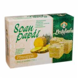 Воздушные индийские сладости со вкусом ананаса Соан Папди Ананас Бестофиндия (Bestofindia Soan Papdi Pineapple), 250г