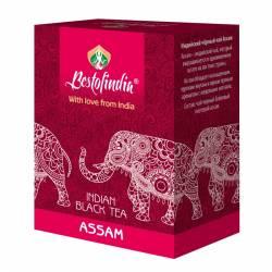 Чай черный индийский листовой Ассам Бестофиндия (Assam Indian Black Tea Bestofindia), 100г
