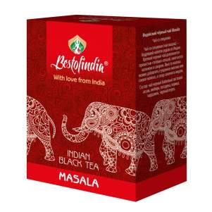 Чай черный индийский листовой Масала Бестофиндия (Masala Indian Black Tea Bestofindia), 100г