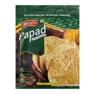 Лепёшки из муки бобовых Папад с чёрным перцем Бикано (Bikano Papad), 200г
