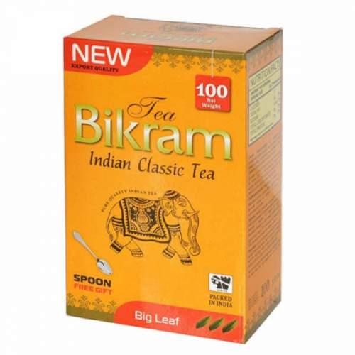 Чай индийский классический крупнолистовой Бикрам (Tea Bikram Big Leaf TGFOP), 100г + чайная ложка
