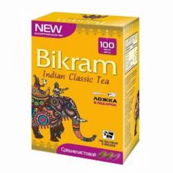 Чай индийский классический среднелистовой Бикрам (Tea Bikram Medium Leaf), 100г + чайная ложка
