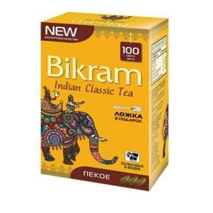 Чай индийский крупнолистовой Ассам Пекое Бикрам (Tea Bikram Assam PEKOE), 100г + чайная ложка