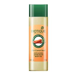 Масло для тела после душа Биотик Био Морковь (Biotique Bio Carrot Seed Anti-Aging After-Bath Body Oil), 120мл