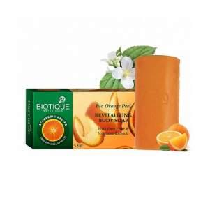 Мыло-скраб для тела Биотик Био Апельсин (Biotique Bio Orange Peel Revitalizing Soap), 150г