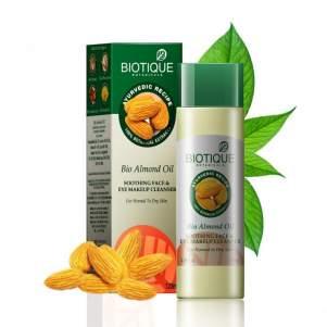 Успокаивающее масло для снятия макияжа Биотик Био Миндаль (Biotique Bio Almond Oil Soothing Face & Eye Makeup Cleanser), 120мл