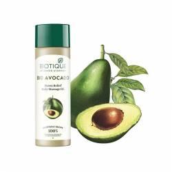 Массажное расслабляющее масло для тела Биотик Био Авокадо (Biotique Bio Avocado Stress Relief Body Massage Oil), 200мл