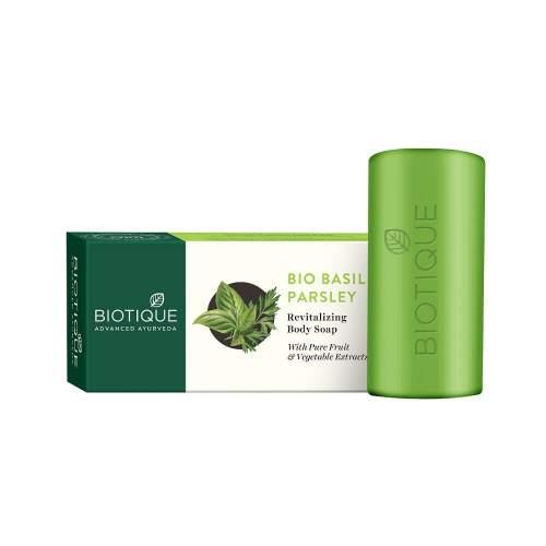 Мыло для тела Биотик Био Базилик и Петрушка (Biotique Bio Basil&Parsley Revitalizing Body Soap), 150г