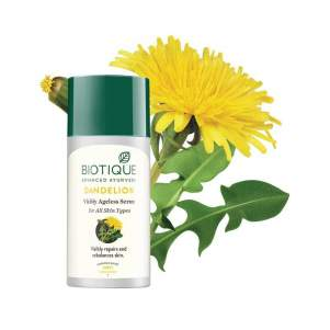 Антивозрастная сыворотка для лица Биотик Био Одуванчик (Biotique Bio Dandelion Ageless Lightening Serum) , 40мл