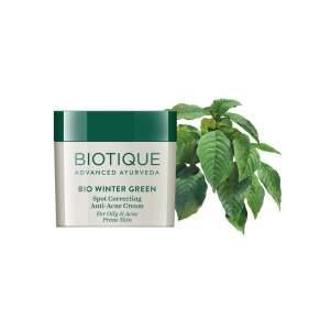 Крем для лица против акне Биотик Био Грушанка (Biotique Bio Winter Green Anti-Acne Cream), 15г