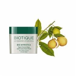Маска для лица против акне Биотик Био Мускатный орех (Biotique Bio Myristica Anti-Acne Face Pack), 20г