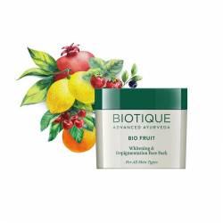 Маска для отбеливания и выравнивания тона лица Биотик Био Фрукт (Biotique Bio Fruit Whitening & Depigmentation Face Pack), 75г