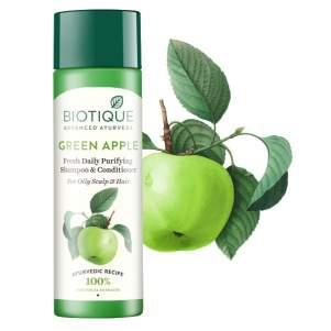 Шампунь-кондиционер для восстановления волос Биотик Био Зеленое Яблоко (Biotique Bio Green Apple Fresh Daily Purifying Shampoo&Conditioner), 190мл