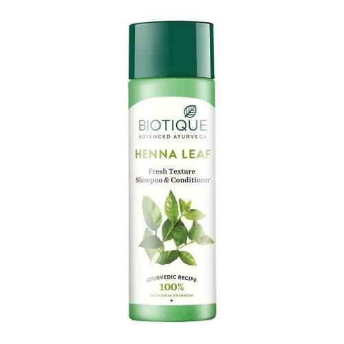 Шампунь-кондиционер Биотик Био Хна (Biotique Bio Henna Leaf Fresh Texture Cleanser Shampoo&Conditioner With Color), 190мл