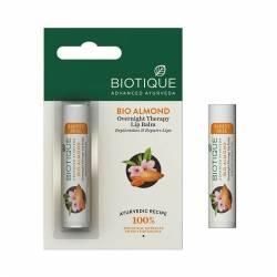 Бальзам для губ ночной Биотик Био Миндальное Масло (Biotique Bio Almond Overnight Therapy Lip Balm ), 5г