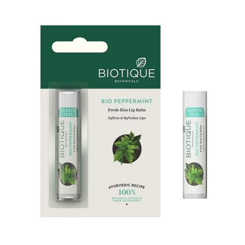 Бальзам для губ освежающий Биотик Био Мята (Biotique Bio Peppermint Fresh Kiss Lip Balm), 5г